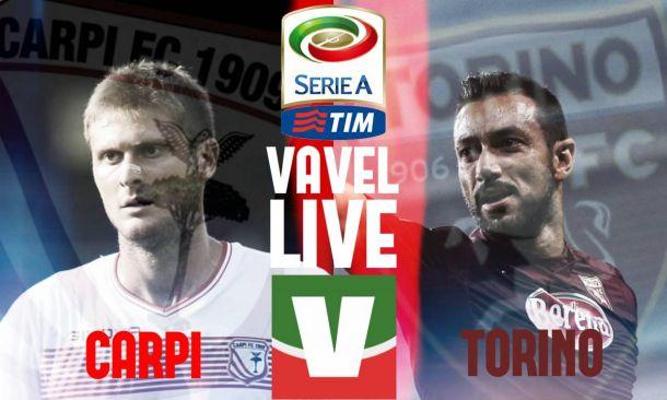 Risultato Carpi - Torino di Serie A 2015/2016: biancorossi storici, 2-1 sui granata