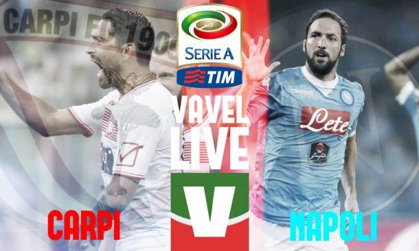 Live Carpi - Napoli, risultato partita Serie A 2015/16 in diretta