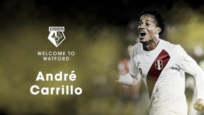 André Carrillo fue anunciado como nuevo jugador del Watford