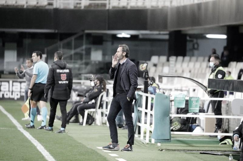 Vicente durante el partido. Fotografía: RCD Espanyol S.A