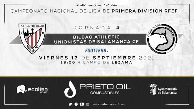 Previa Bilbao Athletic vs Unionistas CF: a seguir soñando en las primeras jornadas