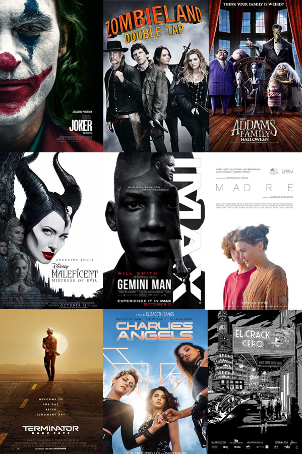 Top próximos estrenos - Otoño de 2019 en España