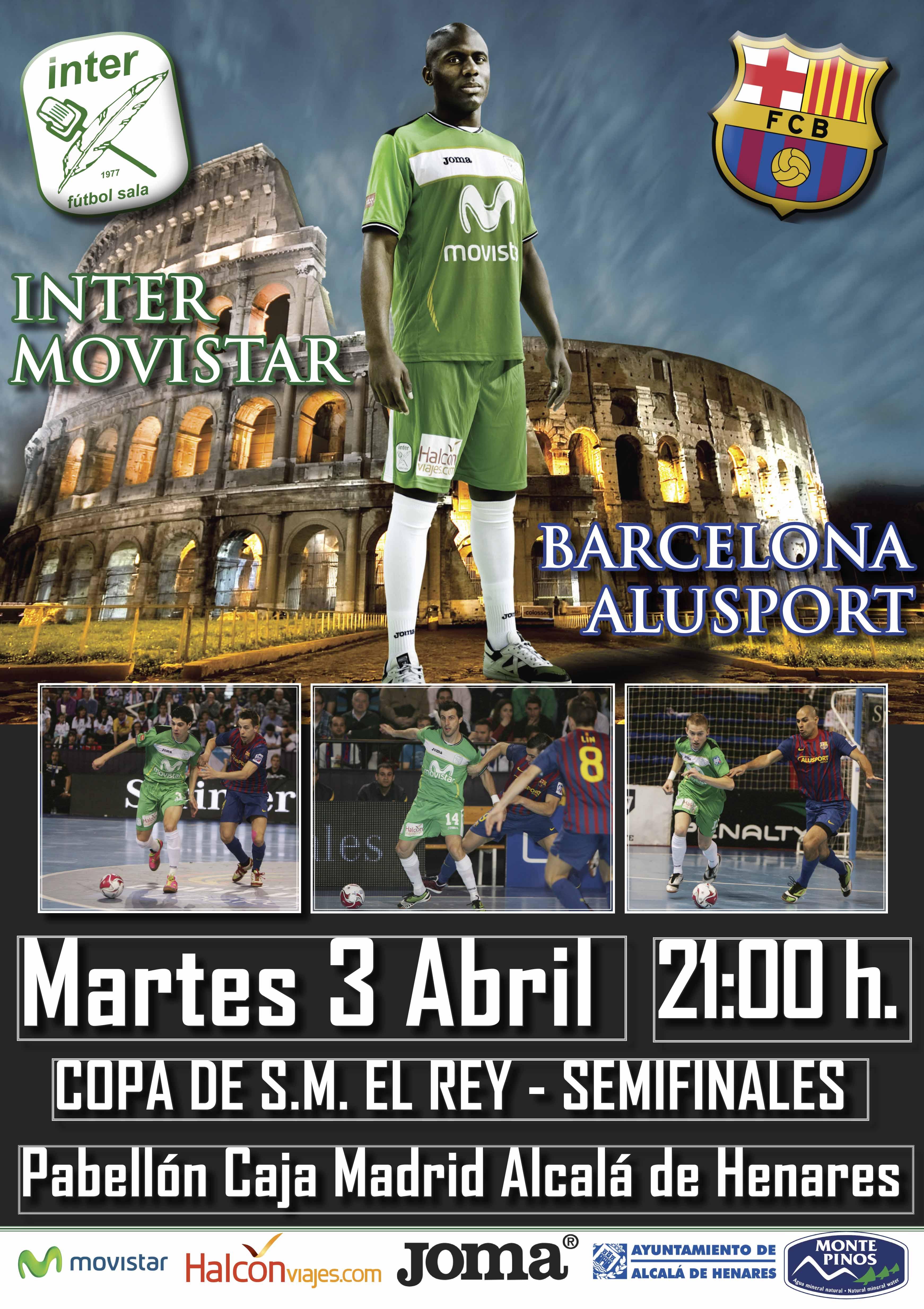 Inter Movistar ya prepara el partido del año en Alcalá de Henares ante el Barça Alusport
