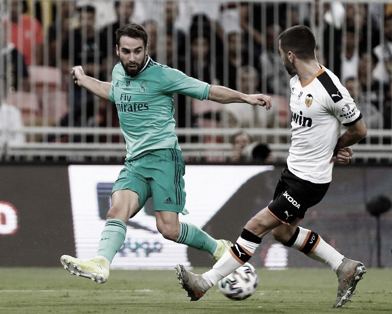 """Dani Carvajal: """"Ya estamos en la final y ojalá en todas las ediciones pueda estar el Real Madrid"""""""