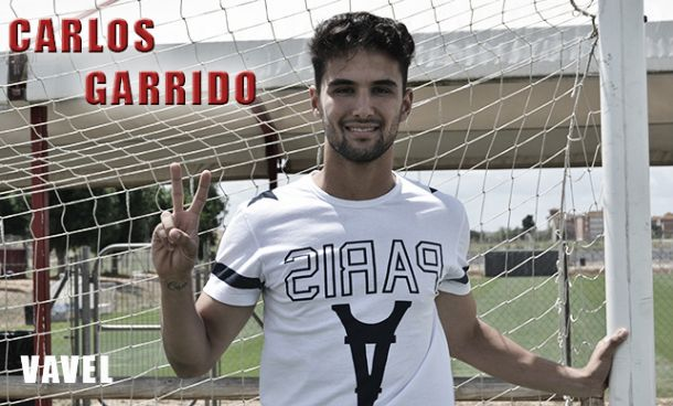 """Carlos Garrido: """"Solo pienso en alcanzar mi sueño, jugar en el Sevilla FC"""""""