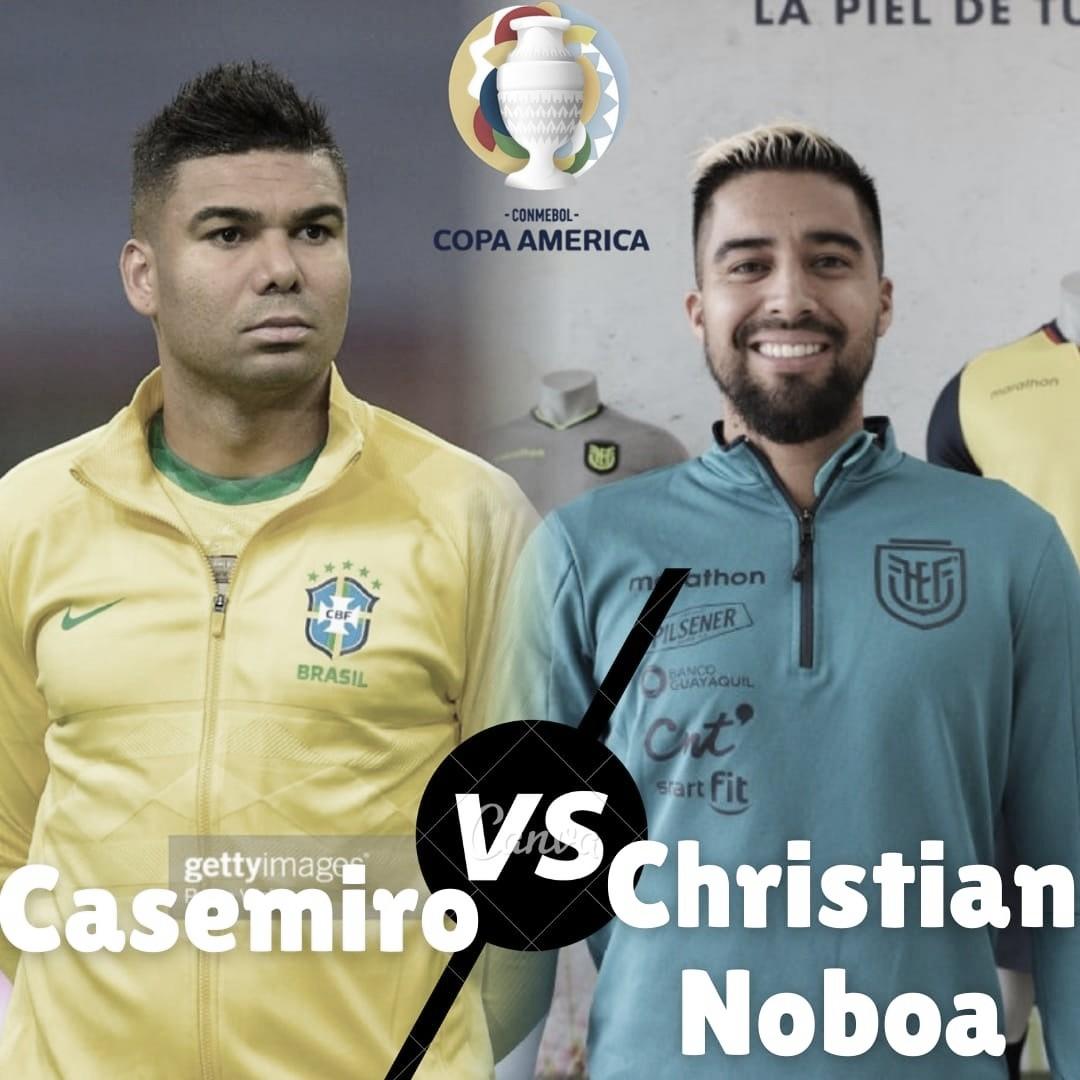 Cara a cara: Casemiro vs Christian Noboa