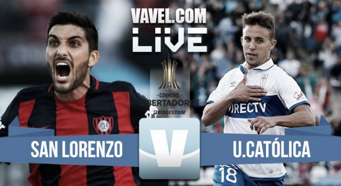 Resultado San Lorenzo vs Universidad Católica por Conmebol Libertadores (2-1)
