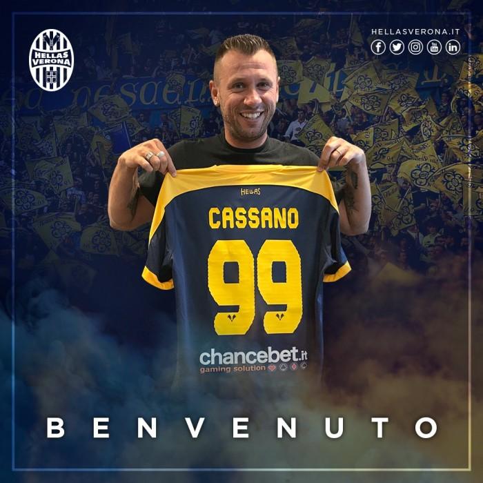 """La versione di Cassano: """"Non mi ritiro. Con il Verona non è scattata la giusta scintilla"""""""