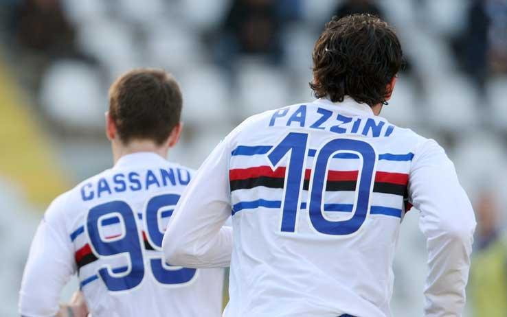 Posible cambio de colores, Cassano por Pazzini