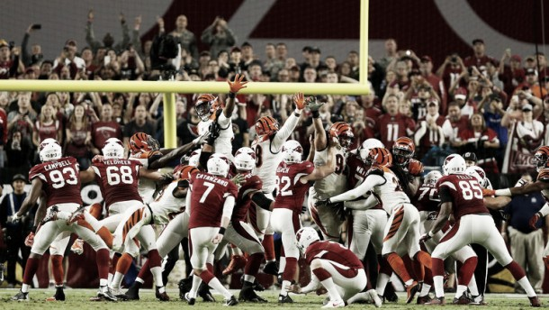 Catanzaro da la victoria a los Cardinals sobre Bengals a falta de dos segundos
