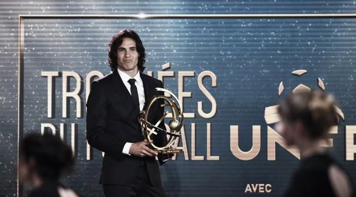 Cavani é eleito o melhor jogador da Ligue 1; Monaco domina premiação do futebol francês