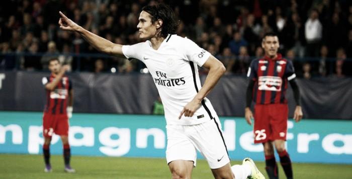 Cavani dá show, Lucas deixa sua marca e PSG goleia Caen