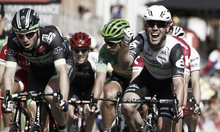 Tour de France: Mark Cavendish powers to stage six victory into Montauban as rival Kittel fumes at organisers