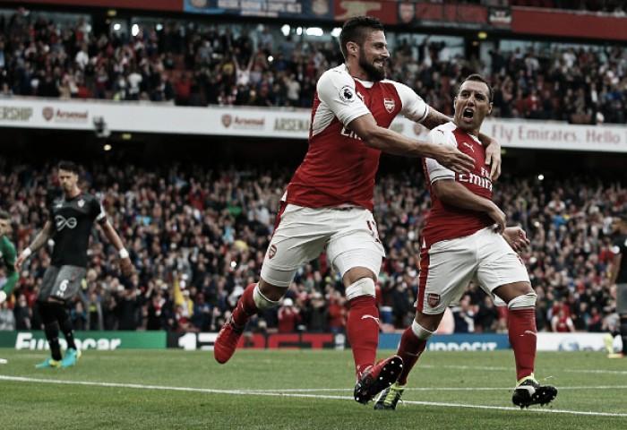 Com gol de Cazorla no fim, Arsenal derrota Southampton de virada