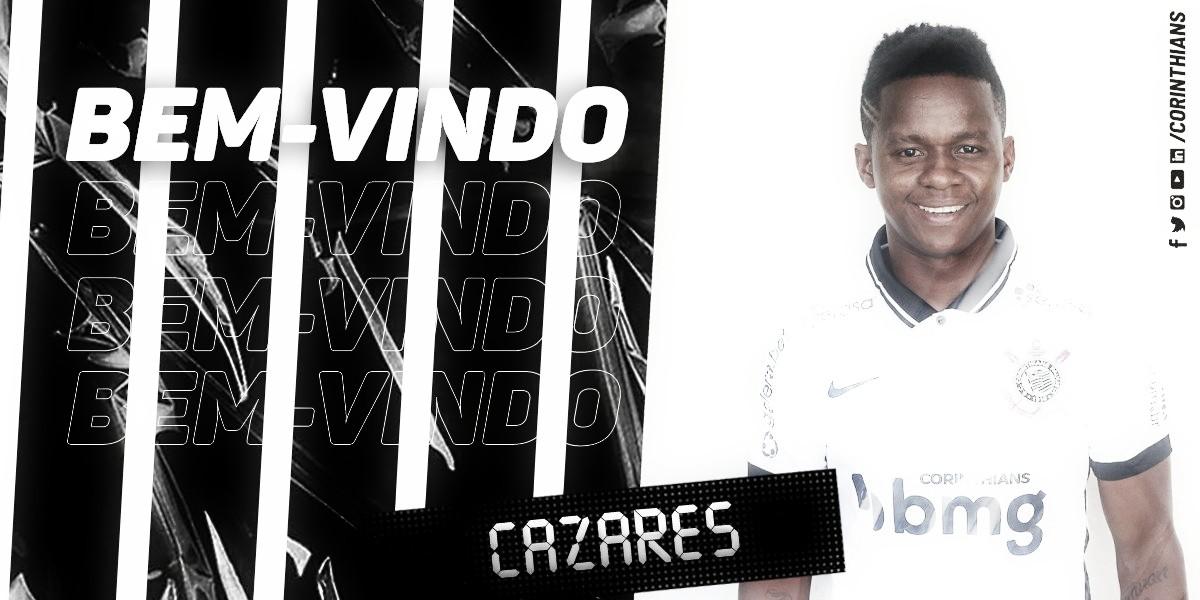 Corinthians anuncia contratação de Cazares, até junho de 2021
