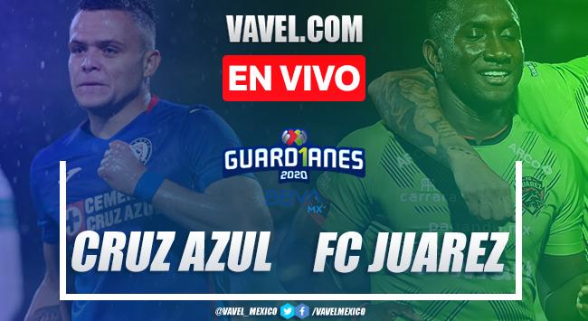 Goles y resumen del partido:Cruz Azul 3-2 Juárez en Liga MX Guard1anes 2020