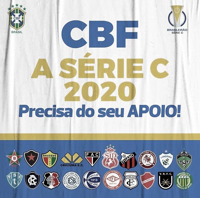 Atráves dos jogadores, clubes participantes da Série C solicitam ajuda à CBF