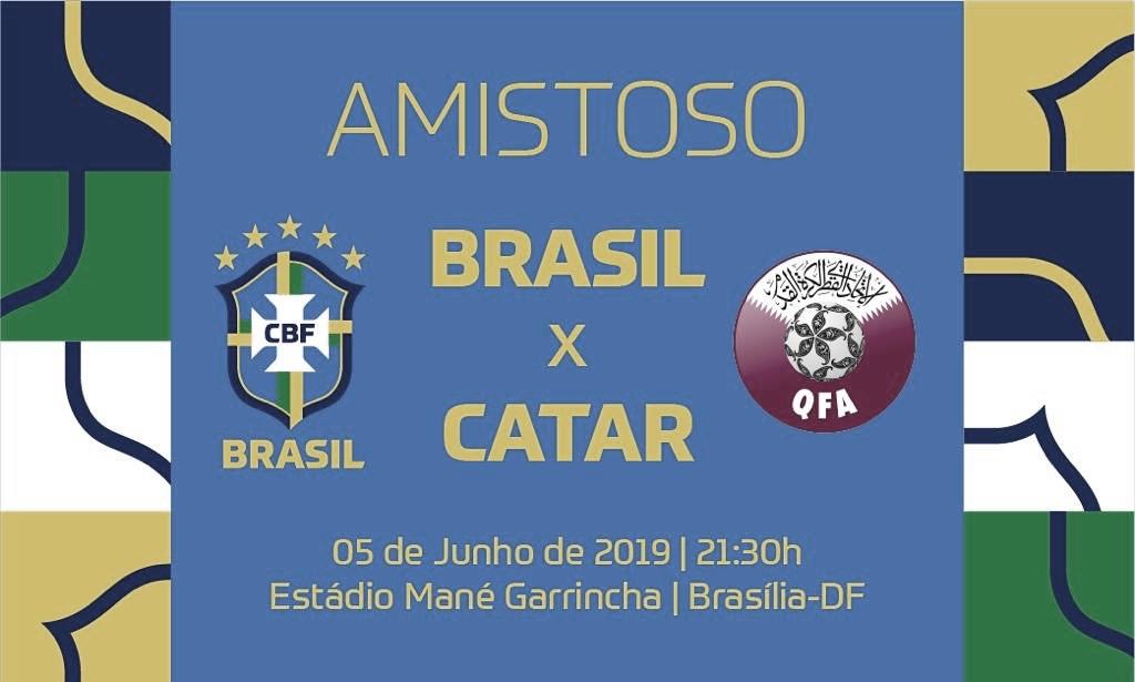 De olho na Copa América, Brasil enfrenta Catar em amistoso no Mané Garrincha