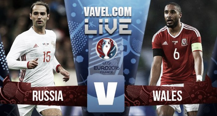 Russia (0) vs Wales (3) Live Score Commentary in UEFA Euro 2016