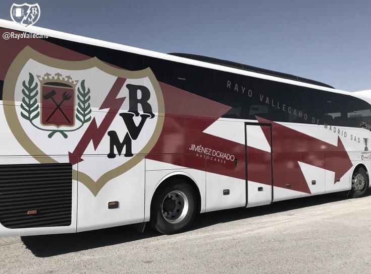 El Rayo Vallecano estrenó autobús