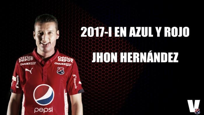 2017-I en azul y rojo: John 'Goma' Hernández