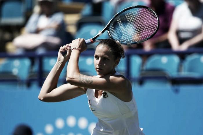 WTA Eastbourne: Karolina Pliskova starts grass court season with win over Alison Riske