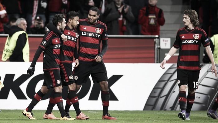 Bellarabi condanna lo Sporting: alla BayArena è 3-1 Leverkusen