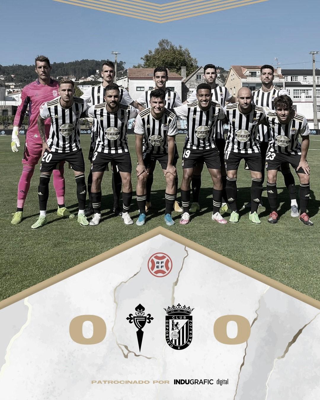 El CD Badajoz no logra pasar del empate ante el Celta B