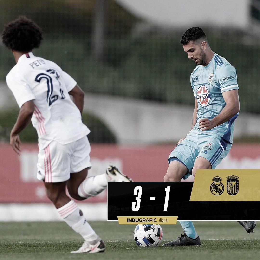 El CD Badajoz pierde ante el Castilla en un partido de trámite