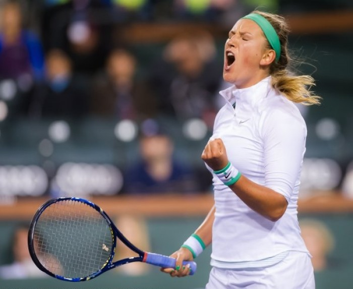 WTA Indian Wells: Victoria Azarenka Powers Past Resilient Zhang Shuai In Straight Sets