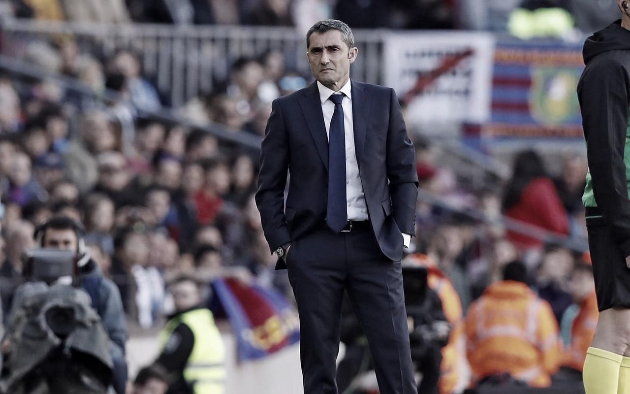 """Valverde destaca postura do Barcelona após vitória em clássico: """"Tivemos que ter paciência"""""""