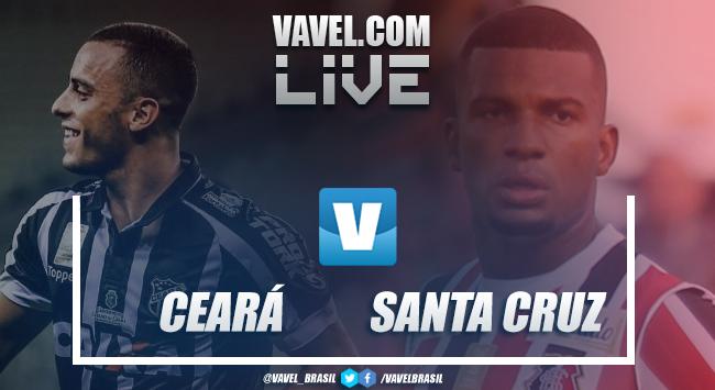 Resultado e gols Ceará 2 x 1 Santa Cruz pela Copa do Nordeste