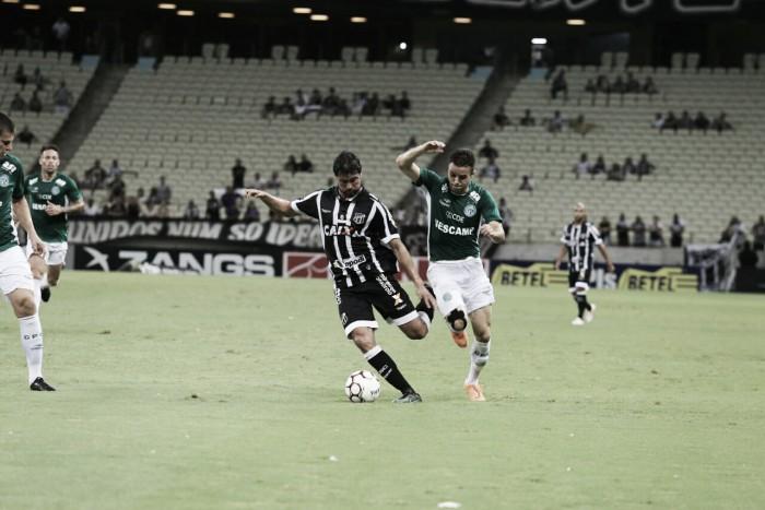 Ceará tem gol mal anulado, empata com Guarani e perde chance de disparar no G-4