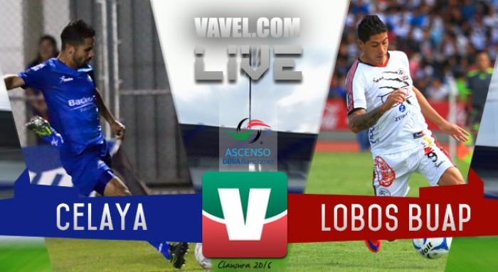 Resultado Celaya - Lobos BUAP en Ascenso MX 2016 (3-0)