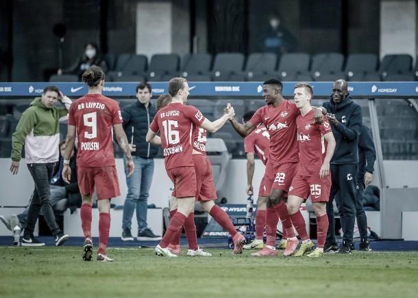 Un flojo Leipzig goleó al Hertha en Berlín