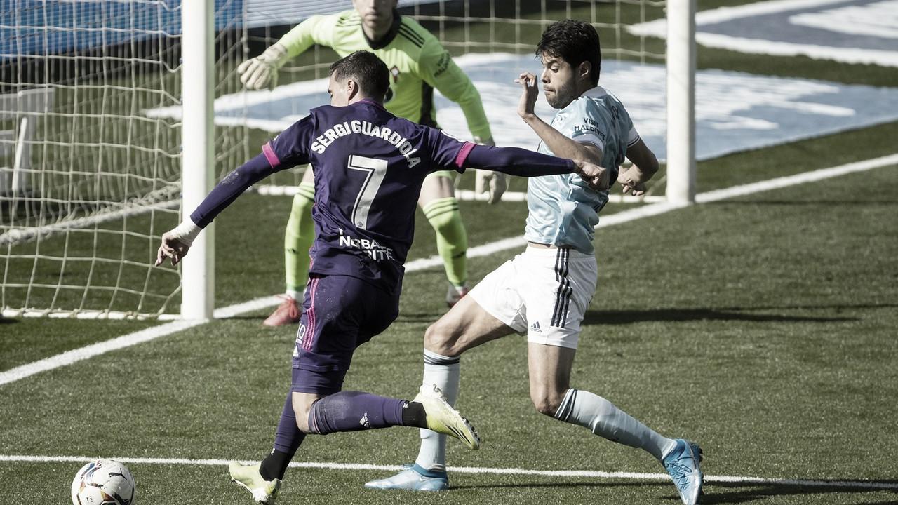 Celta 1-1 Real Valladolid: el Pucela no levanta cabeza