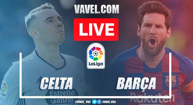 Goals and Highlights: Celta de Vigo 2-2 FC Barcelona in 2020 La Liga