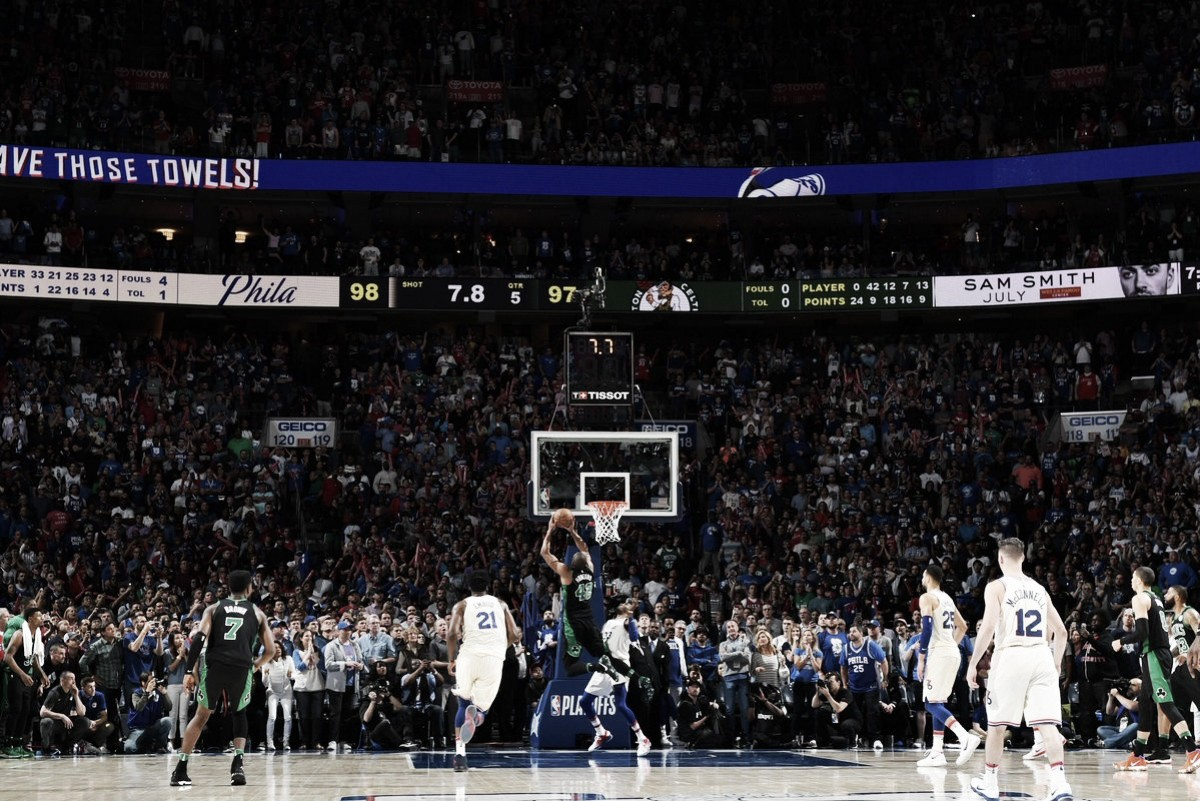 Con una consumación infartante, Celtics ganó