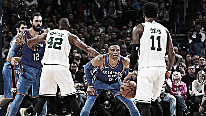 Irving vence a Westbrook en la victoria de Celtics sobre OKC