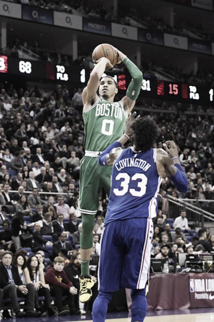 Celtics perseveró y ganó en Londres