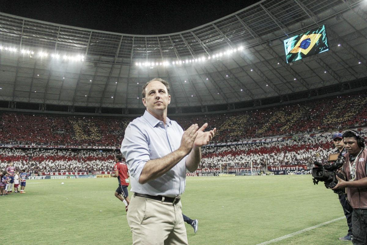 """Rogério Ceni celebra acesso do Fortaleza, mas ainda quer título: """"Lutar até o fim"""""""