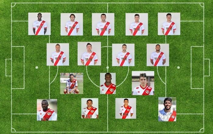 Rayo Vallecano 2015: centrocampistas
