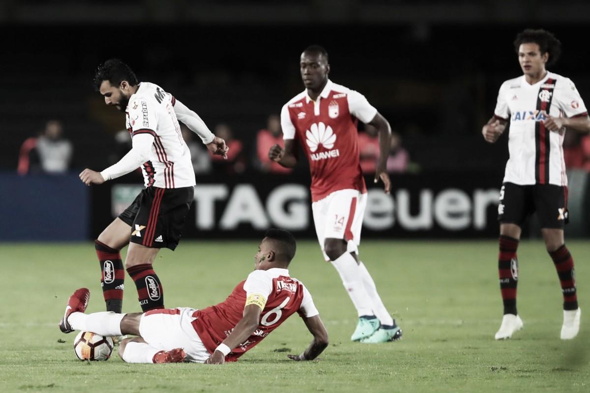 Fora de casa, Flamengo arranca empate do Santa Fe pela Libertadores
