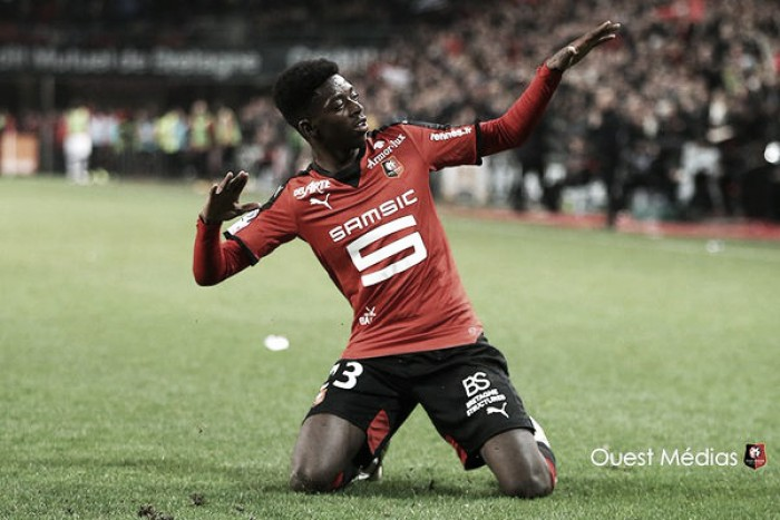 Rennes 3-1 Reims: Dembele double inspires hosts to third