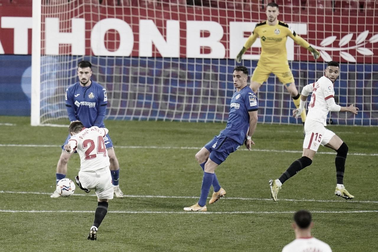 Sevilla FC - Getafe CF; puntuaciones del Sevilla FC, 22ª Jornada de LaLiga