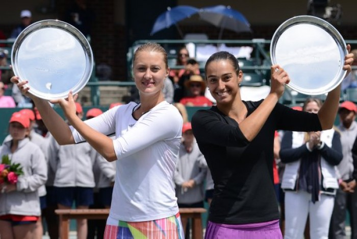 Caroline Garcia and Kristina Mladenovic pick up Charleston title, ending France's wait for a doubles title in 12 years