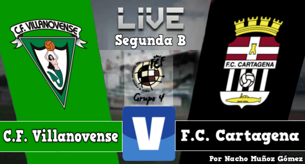 Resultado Villanovense - Cartagena en Segunda División B 2015 (1-2)