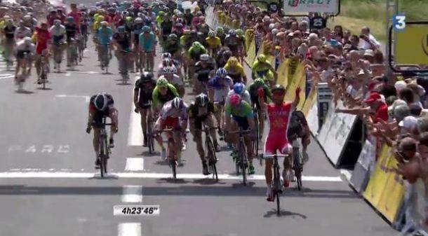 Giro del Delfinato, 2° tappa: volata sontuosa di Bouhanni, Kennaugh resta leader