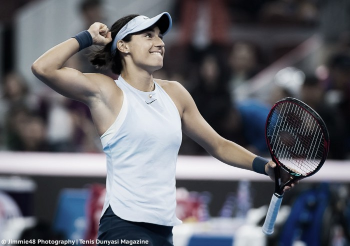 WTA Beijing: Unstoppable Caroline Garcia overcomes Simona Halep to clinch title