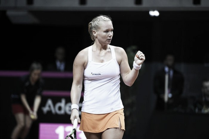 Fed Cup: Kiki Bertens gives Netherlands the edge overcoming Kristina Mladenovic in straight sets